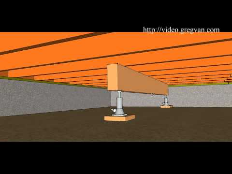 How To Use Beam And Jack To Raise Multiple Floor Joist – Crawlspace Repairs