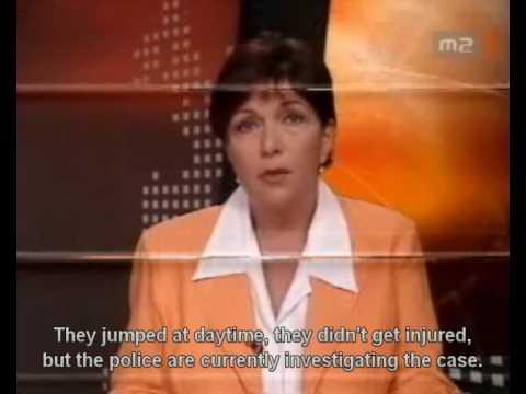 Hungarian TV documenting on szeged bridge jump