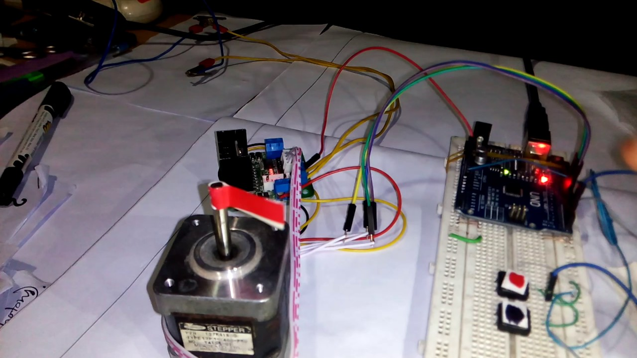 Arduino uno with l n stepper motor driver for push