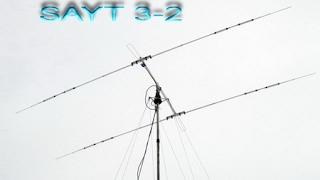 видео Двухэлементная антенна на 20 м.с искривленным излучателем.
