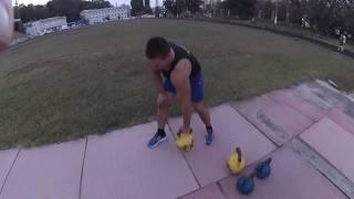 Упражнения с гирями для мышц спины. Гиревой фитнес.