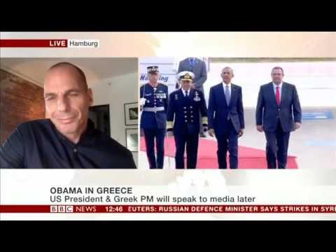 BBC World News Yanis Varoufakis discussing recent political events  Brexit,Obama, Trump