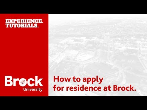 How to apply for residence at Brock University