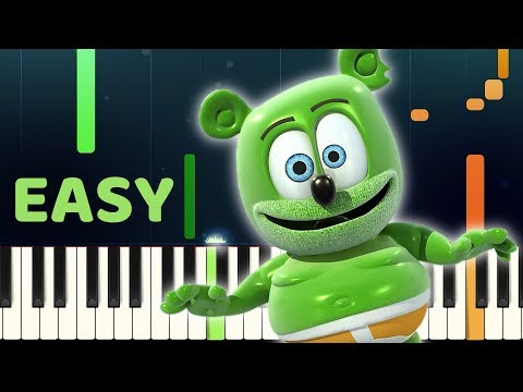 GUMMY BEAR SONG - Easy Slow Piano Tutorial with SHEET MUSIC thumbnail