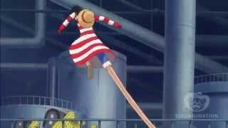 One Piece - Luffy Gomu Gomu no UFO - Funny (Episode 604)