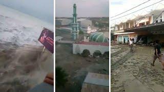 Video Watch: Tsunami thrashes Palu in Indonesia download MP3, 3GP, MP4, WEBM, AVI, FLV November 2018