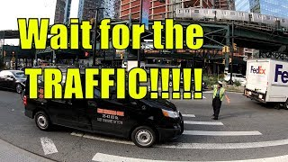NYPD Traffic Agent gets annoyed when nobody listens to her instructions