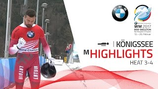 Highlights Heat 3-4 | Make it five golds for Martins Dukurs | BMW IBSF World Championships 2017