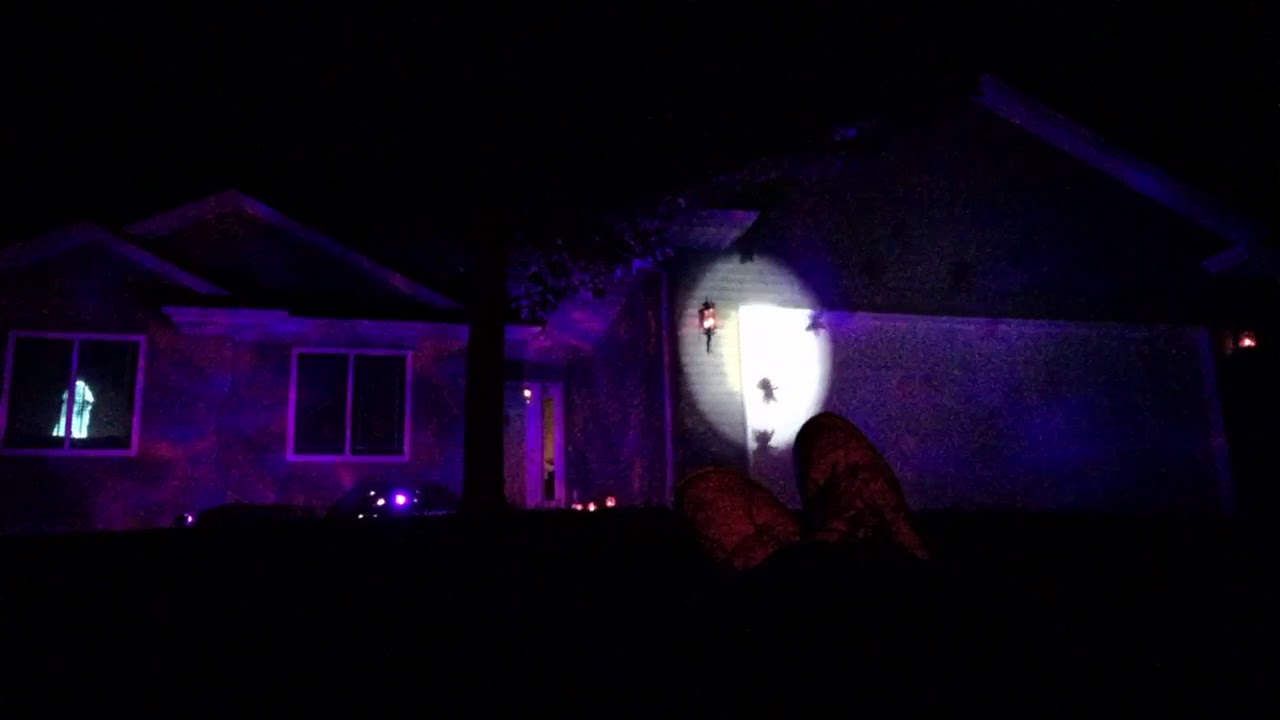 2017 Halloween house decorations with atmosfx - YouTube