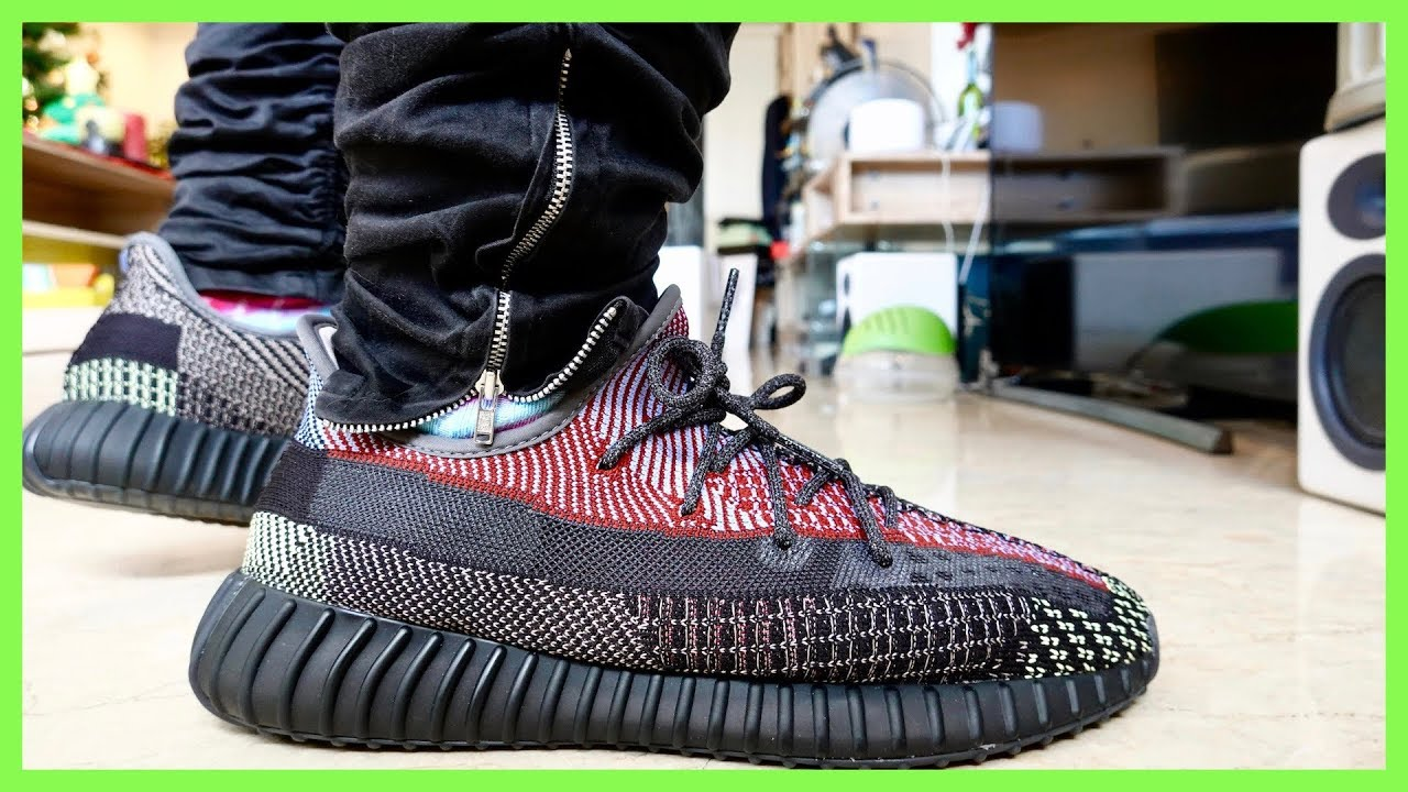 ADIDAS YEEZY BOOST 350 V2 YECHEIL ON FEET REVIEW (Reflective)