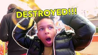 DESTROYED BY ROMELLO!! | Tekkerz Kid Holiday vlog part 2