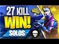 27 KILL SOLO WORLD RECORD ATTEMPT! (Fortnite Battle Royale)
