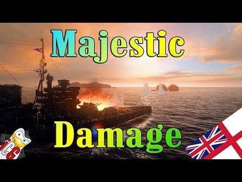 World of Warships - Queen Elizabeth - Majestic Damage