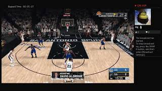 Warriors vs spurs  NBA 2k19 S2