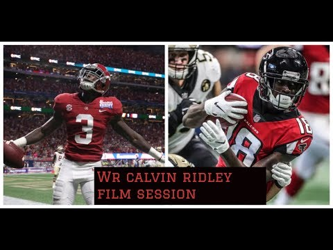 Atlanta Falcons || Calvin Ridley Film Session || Big Game vs The Saints