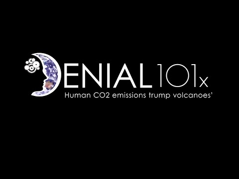 UQx DENIAL101x 3.2.2.1 Human CO2 emissions trump volcanoes'