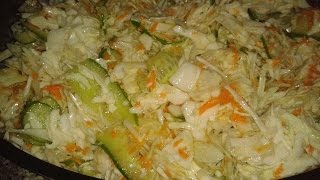 Салата биль мальфуф (арабский салат из белокочанной капусты)