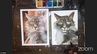 How to: Watercolor Pet Portrait feat. Vic Hollins