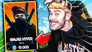 THIS SKIN ME DONNE THE NINJA LIVE ON FORTNITE BATTLE ROYALE !!!