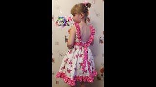 Фламинго и горохи: Обзор платья с оборками и открытой спинкой