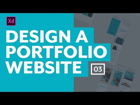 Designing a portfolio website with Adobe XD - The desktop layout