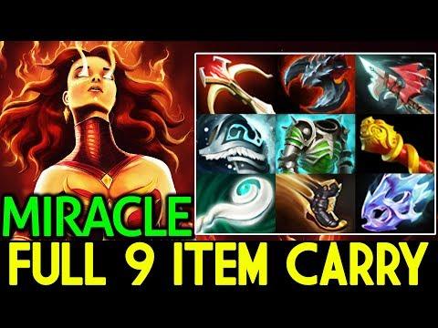 Miracle- [Lina] Full 9 Item Carry Game 7.14 Dota 2
