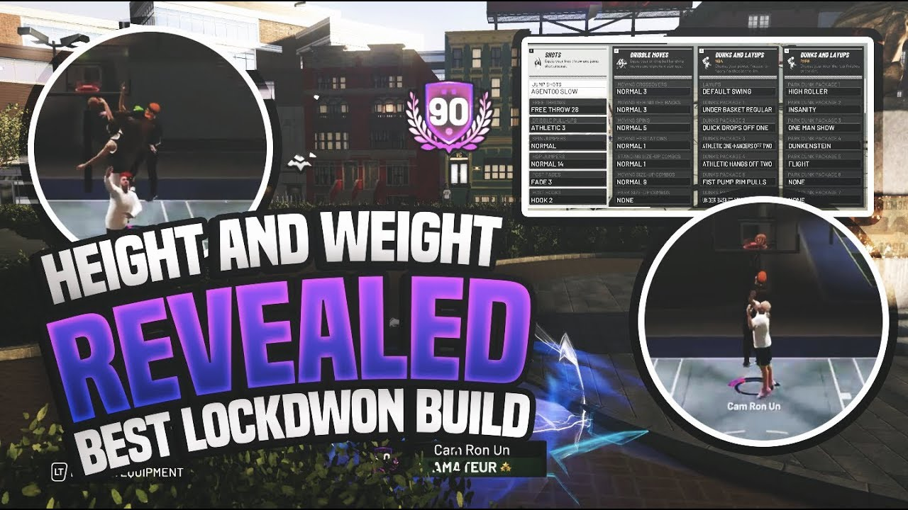 NBA 2K19 PURE LOCKDOWN DEFENDER BUILD!!! THE BEST LOCKDOWN BUILD IN THE  GAME?? HEIGHT AND WEIGHT?