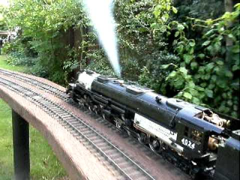 "Model Railway Toy Train Track Plans -Terrific ""Big Boy"" Gauge One – Gas Fired Model Railway Train"