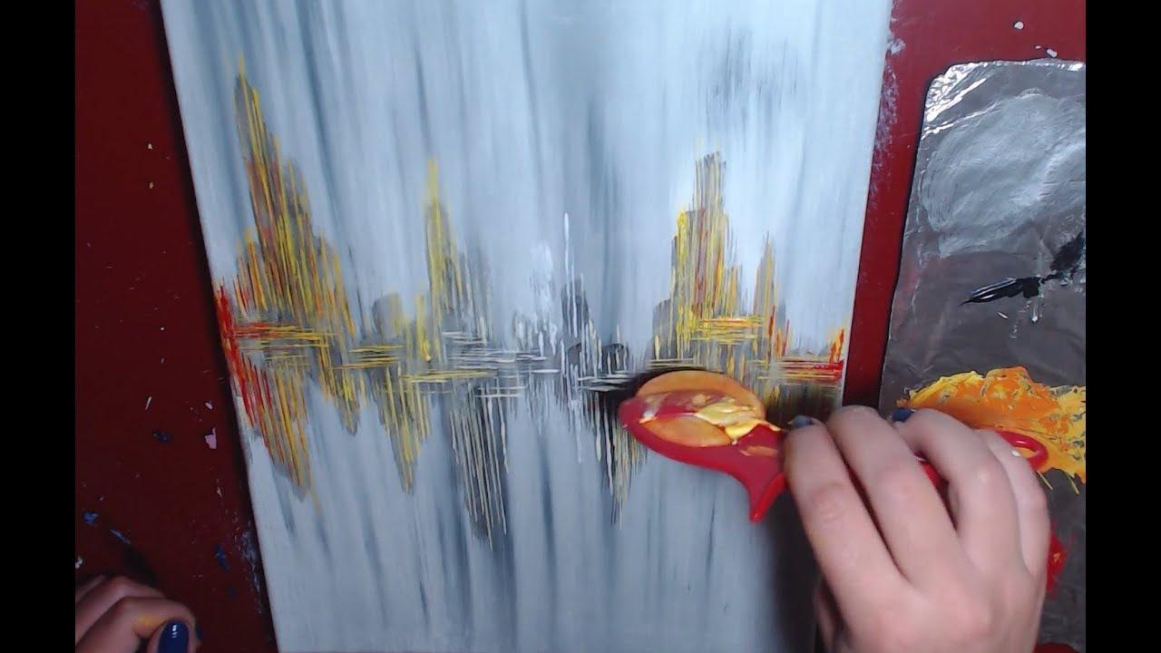 Peinture Abstraite Debutants Acrylique Facile Youtube