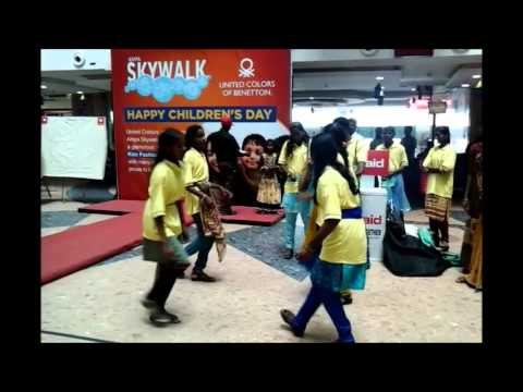 Dance and songs by the slum children