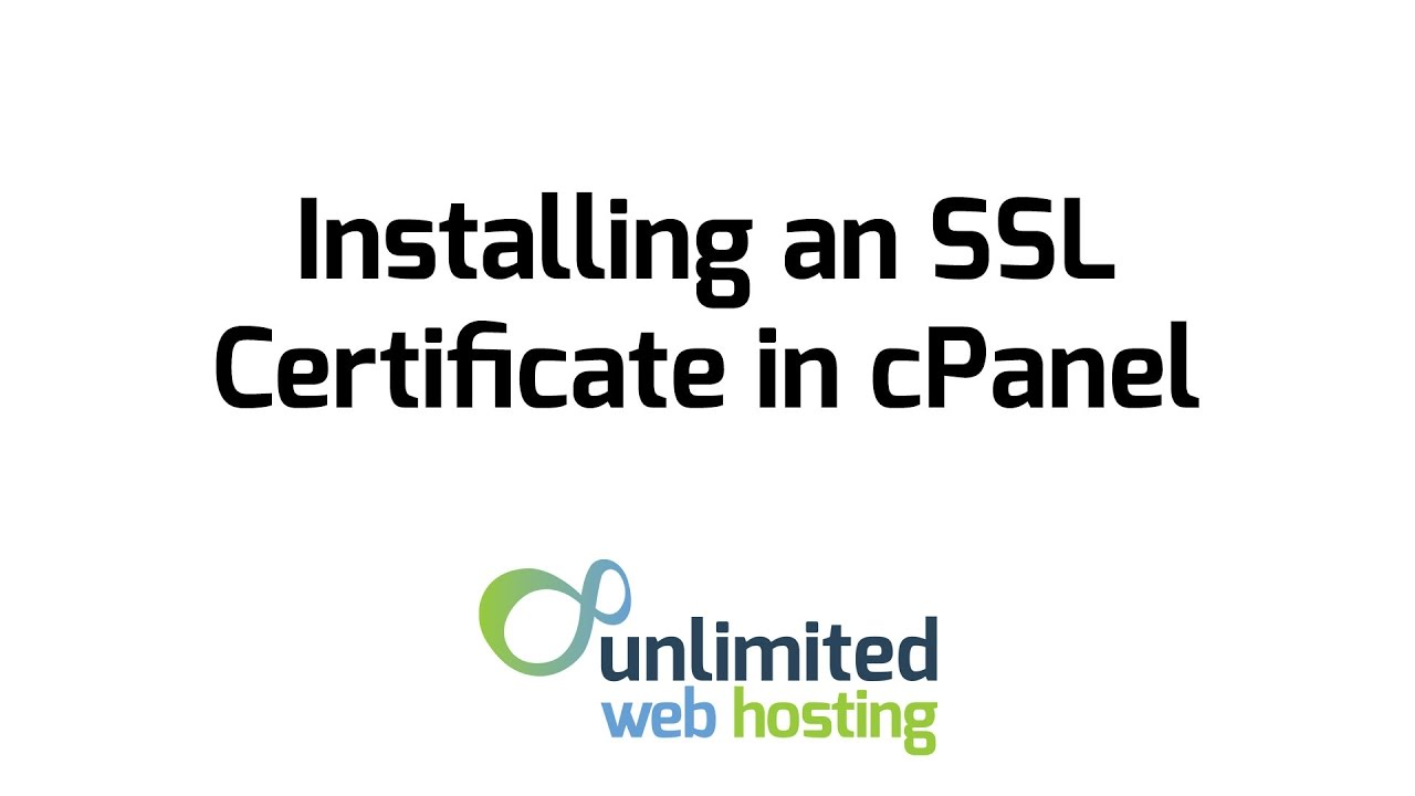 How to install a ssl certificate in cpanel youtube how to install a ssl certificate in cpanel xflitez Images