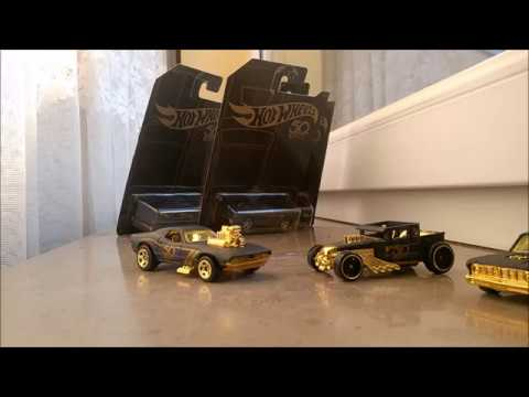 Unboxing 50th Anniversary Black/Gold Hot Wheels