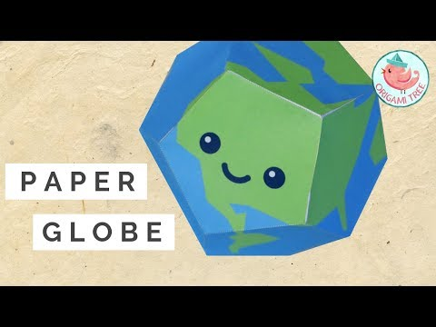Paper Globe Tutorial - FREE Printable Template - Earth Day Project for Teachers & Parents!