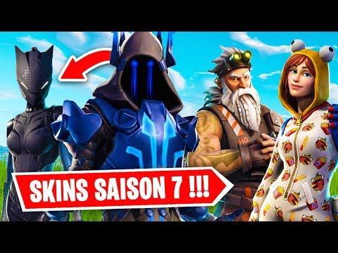 VOICI LES SKINS DE LA SAISON 7 DE FORTNITE !