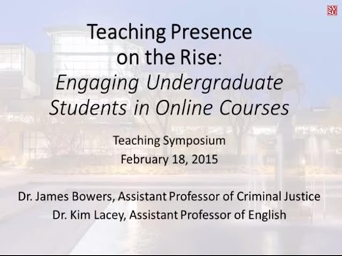 Teaching Presence on the Rise: Engaging Undergraduate Students in Online Courses