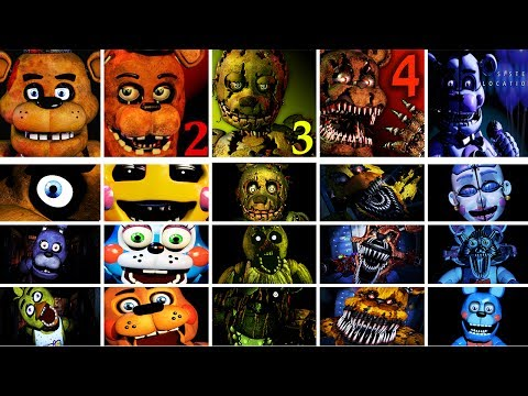 Five Nights at Freddys 1  4 + Sister Location Jumpscare Simulator  FNAF Fan Game