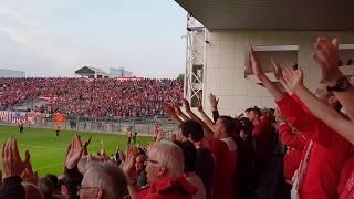 Nimes Olympique - Gazelec Ajaccio L'ambiance de folie dans le stade des Costières!