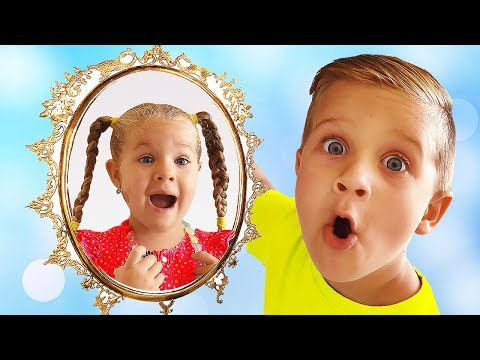 Magic Mirror grants wishes of Diana and Roma Kids pretend play video