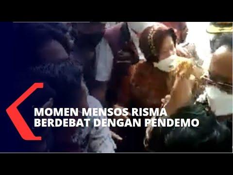 Download Mensos Risma Debat dengan Pendemo Soal Pemasok Bantuan Pangan