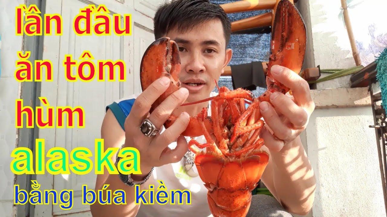 Lần đầu trải nghiệm ăn thử tôm alaska đổ cả mồ hôi|tôm alaska hấp coca|Hieu Pham TV.
