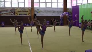 Эстетическая гимнастика. Винница-2017. групповые упражнения Подільські зорі