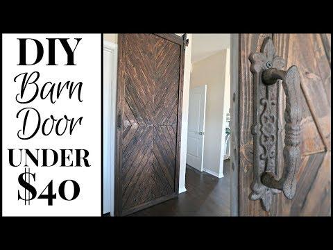 DIY RUSTIC BARN DOOR UNDER $40 + TUTORIAL // DIY KITCHEN MAKEOVER