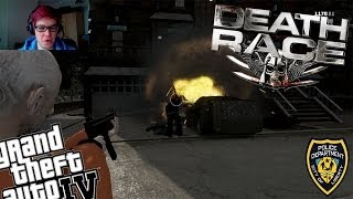 GTA 4 + WebcamLCPDFR Death Race Mod - Day 3 - GTA 5 For PC