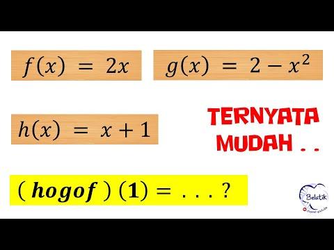 Mencari Fungsi Komposisi hogof (x) Jika Diketahui f(x) g(x ...