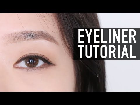 EYELINER TUTORIAL FOR BEGINNERS | �보 아��� �토리얼