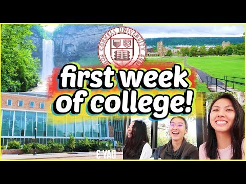 🏫FIRST WEEK OF COLLEGE VLOG 2018! Cornell University Freshma