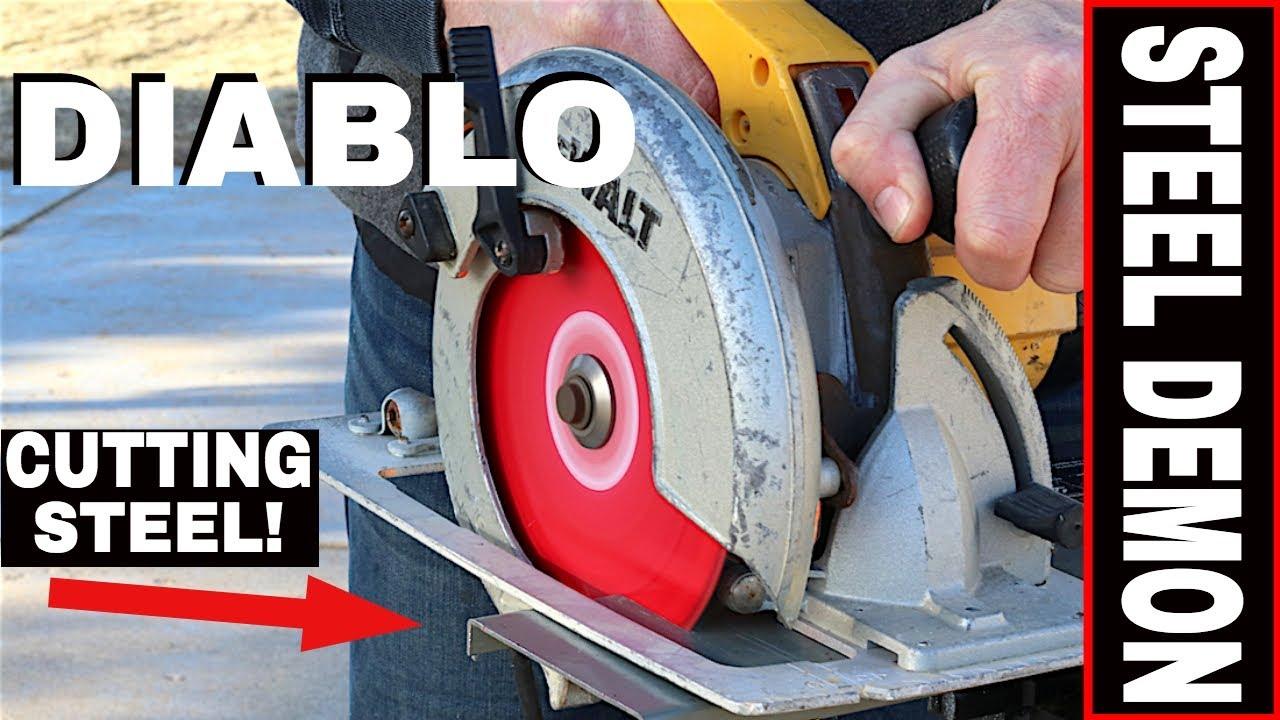 DIABLO STEEL DEMON CIRCULAR SAW BLADE REVIEW! -7 1/4 BLADE- CERMET STEEL  CUTTING 48 TPI