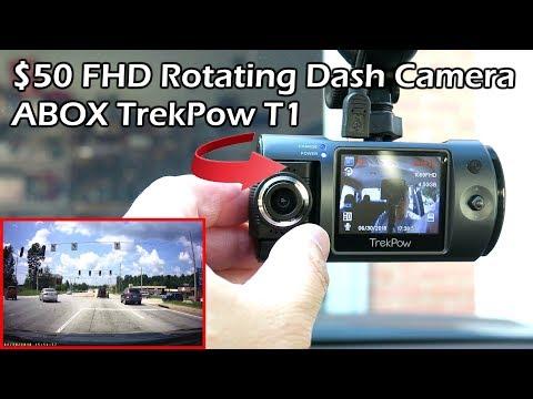 ABOX Trekpow HD 1080P 180°Rotating Camera Car Dashcam