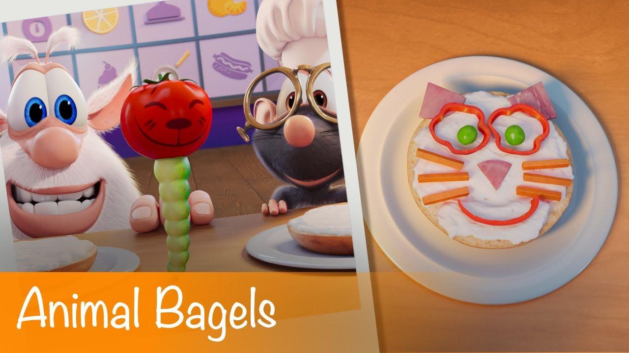 Booba - Food Puzzle: Animal Bagels - Episode 22 - Cartoon for kids