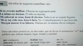 #Esperanto - Partículas